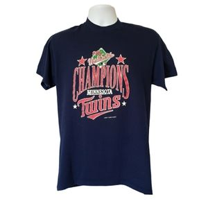 Logo 7 MLB Minnesota Twins World Series Vintage L